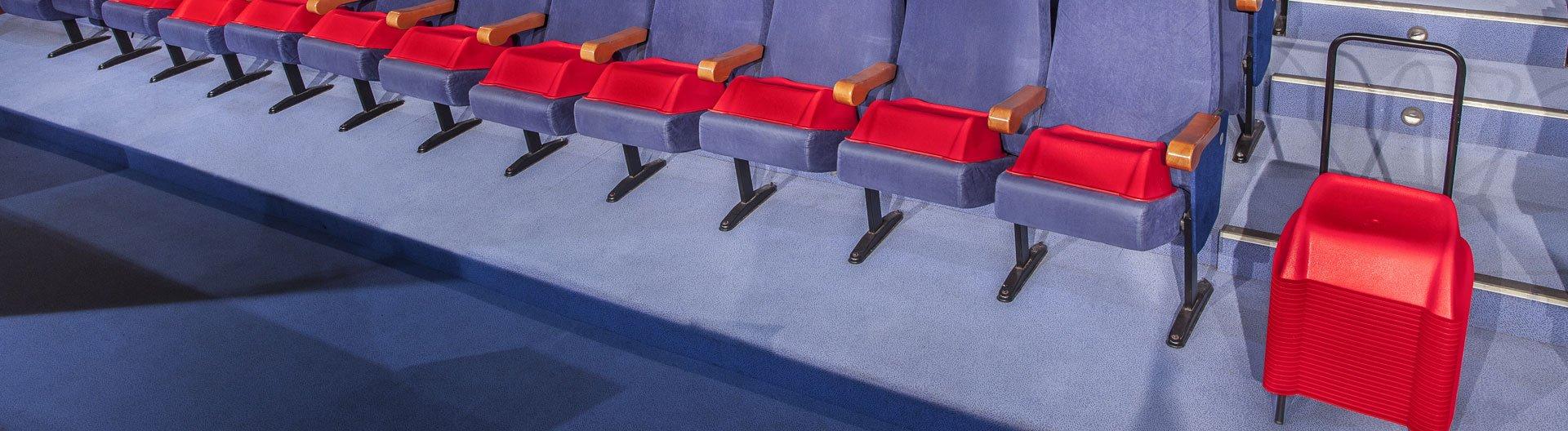 Alzadores infantiles para butacas de teatro y cine - Fabricante de alzadores infantiles para butacas